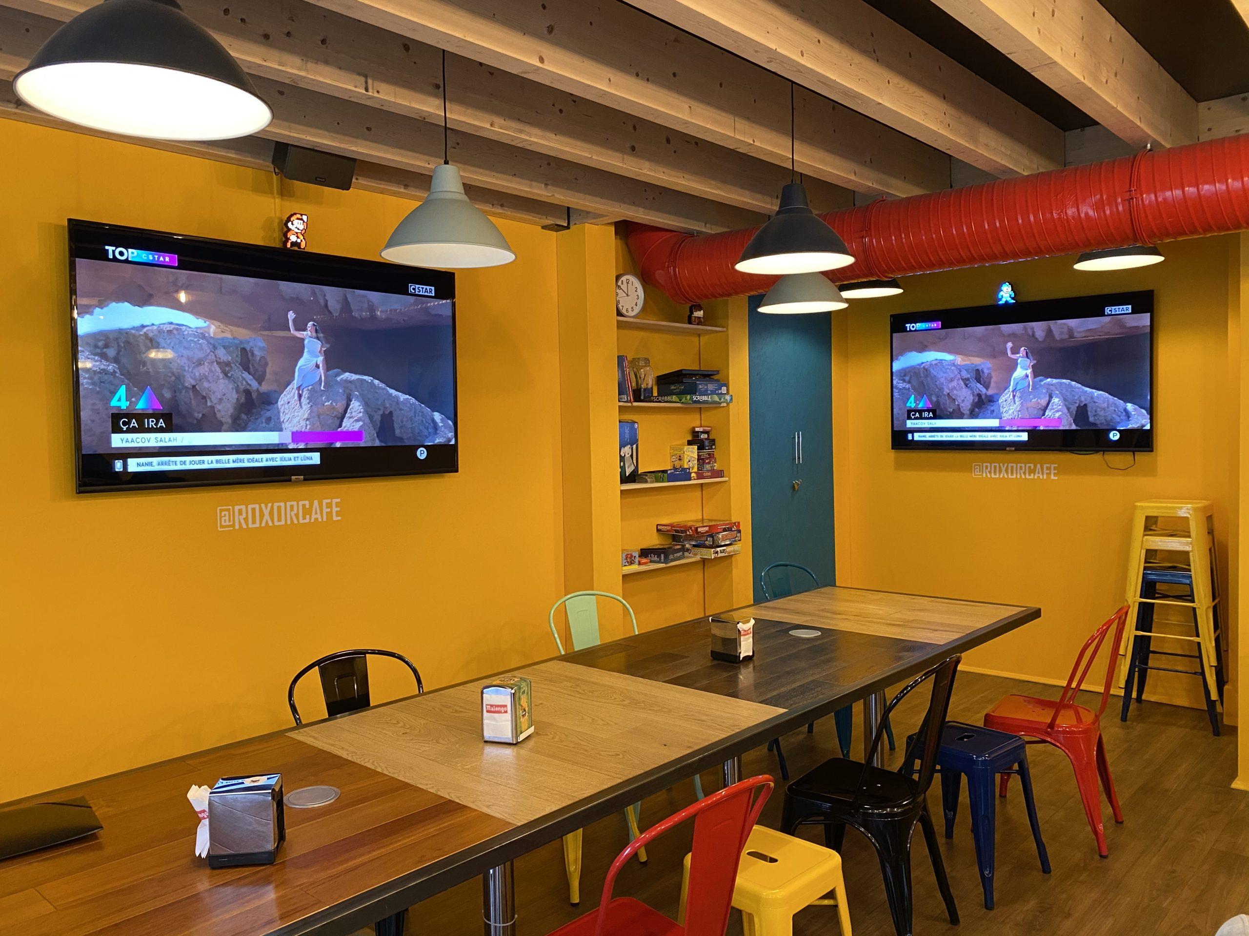 Télévision 4K installé chez un de nos clients.