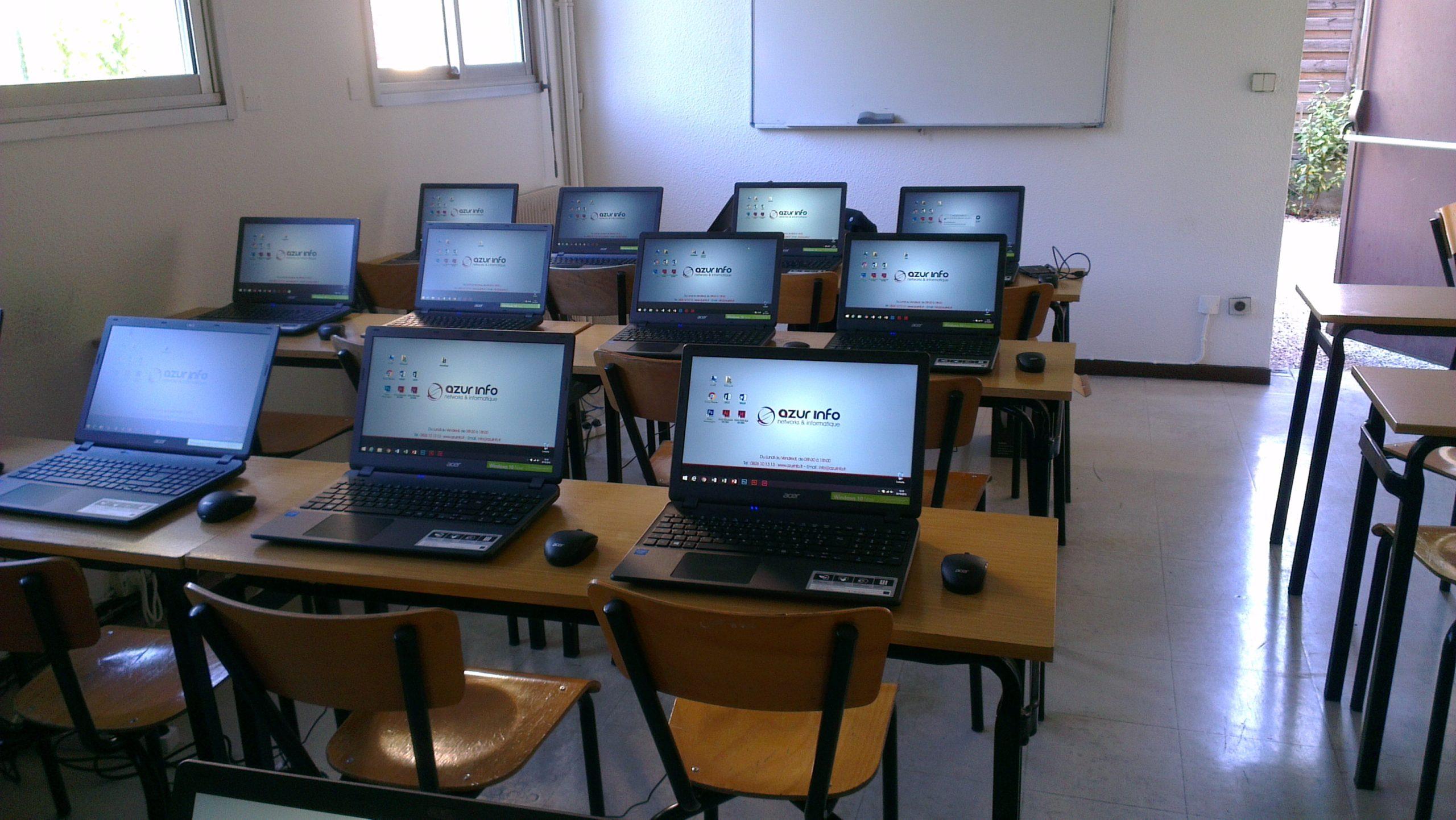 Salle de formation pour une école de la région.